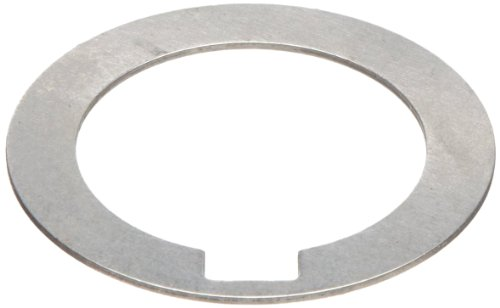 1008/1010 Carbon Steel Notched Shim, Matte Finish, Hard Temper, AISI 1008/AISI 1010, 0.004' Thickness, 3/4' ID, 1-1/8' OD (Pack of 10)