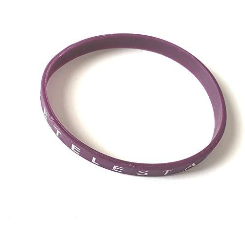 Revelation Culture Tetelestai Bracelet Christian Silicone Thin Wristband Plum