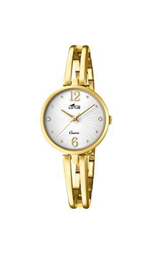 Lotus Watches Reloj Análogo clásico para Mujer de Cuarzo con Correa en Acero Inoxidable 18443/1