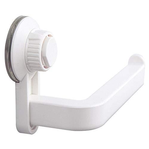 ZKYXZGPorta carta igienica,Ventosa Cremagliera Cucina Bagno Deposito Impermeabile A prova d'umidità Asciugamano Accessori Mensola Porta carta igienica Montaggio a parete, bianco