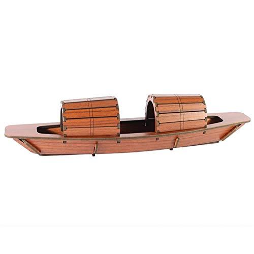 Kaned Juego de construcción de rompecabezas 3D de madera para manualidades con diseño de barco