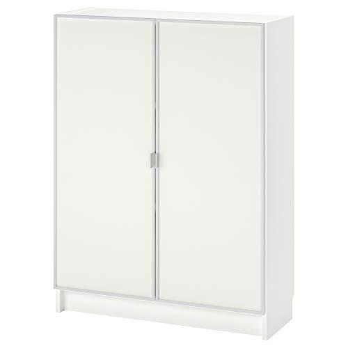 MORLIDEN/BILLY estantería con puertas de cristal 80x30x106 cm blanco/vidrio