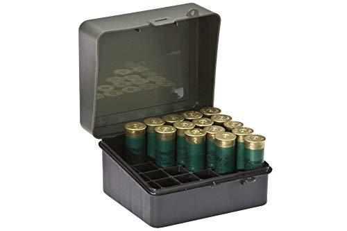 Plano - Caja para munición de Escopeta, 12 o 16 Huecos de Calibre 89, Color Verde Aceituna