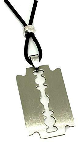 Eclectic Shop Uk Stahl Rasierklinge Rasierklinge Anhänger Boho Veganen Verstellbar Perlen 30