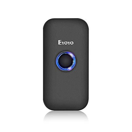 Eyoyo 1D Escáner de Código de Barras, Mini Lector de Código de Barras CCD con 3-en-1 Conexión Bluetooth/ 2.4G Inalámbrico/Cable USB para PC, Tabletas, Móvil, Windows y Android