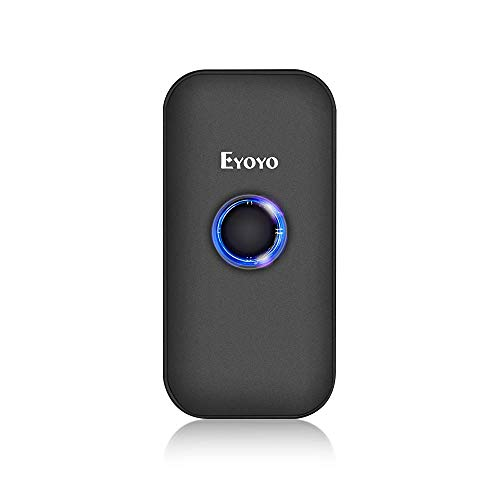 Eyoyo 1D Escáner de Código de Barras, Mini Lector de Código de Barras CCD con 3-en-1 Conexión Bluetooth/Cable USB/ 2.4G...