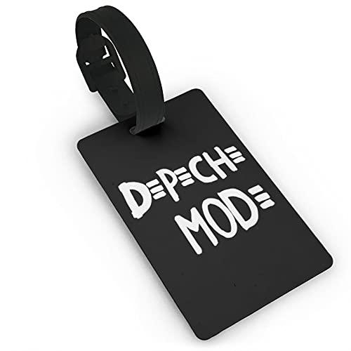 Depeche Mode Étiquettes de Bagage Bagage Bagage Bagage Bagage Étiquette ID avec Couverture Intégrale Arrière Intimité pour Bateaux de Croisière, Accessoires de Voyage