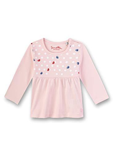 Sanetta Baby-Mädchen Fiftyseven Langarmshirt, Rosa (Blossom Rose 38098), 80 (Herstellergröße: 080)