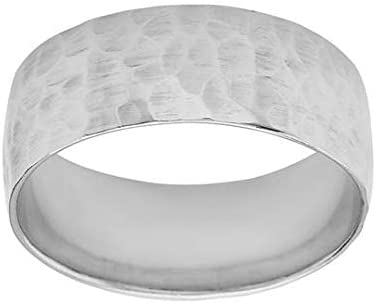 All items free shipping Solid Sterling Silver All items free shipping Hammered Ring Band 7mm
