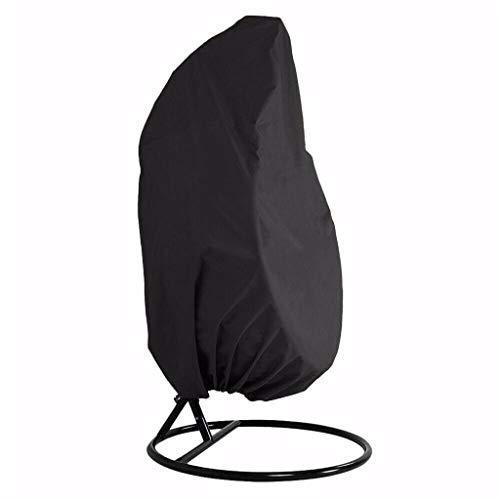 Javntouy Funda para silla colgante impermeable de mimbre con cremallera, resistente al agua, asiento de huevo Oxford, protección de muebles de exterior