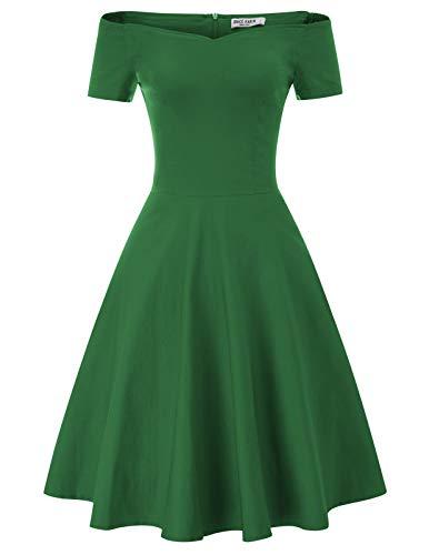 GRACE KARIN Mujer Vestido Corto Elegante para Fiesta Cóctel M CL011020-3
