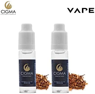 CIGMA 2 X 10ml E Líquido | Tabaco clásico| 2 botellas de la Nueva Fórmula