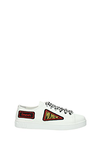 Miu Miu Sneakers Damen - Leder (5E732BNAPPA18BIANCO) 38 EU