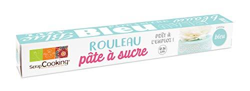 Scrapcooking Rouleau Pâte à Sucre Bleu 430 g