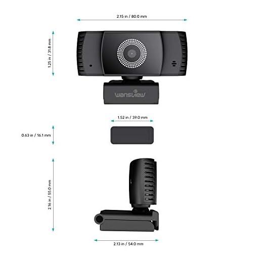 Wansview Webcam 1080p Autofocus con Microfonos de Reducción de Ruido, USB Webcam Plug and Play con Clip Giratorio, Full… 8
