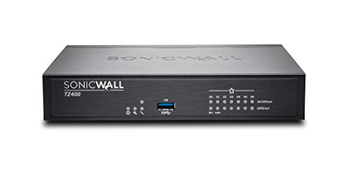 SonicWall TZ400 Network Security Appliance Bundle with SonicWall Firewall SSL VPN 15 User License (01-SSC-0213+01-SSC-6111)