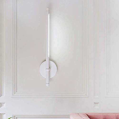 LLLKKK Lámpara de pared LED 7 W, giratoria, moderna, creativa, luz blanca cálida, 3000 K, para leer, dormitorio, pasillo, salón, negro o blanco cálido