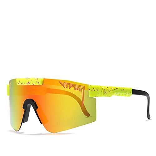 Pit Viper Sonnenbrille, winddichte Brille mit UV400 verspiegelten Gläsern, für Herren/Damen, bunt, polarisierte Sport-Sonnenbrille, geeignet für Baseball, Radfahren, Angeln, Laufen