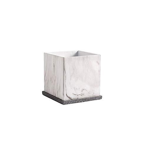 Faturt Quadrato con Vassoio Verde pianta Vaso di Fiori in Vaso Foro di Scarico Giardino pianta Contenitore Interno di casa Nordico Cemento Vaso di Fiori succosa Pratico Decorativo fioriera