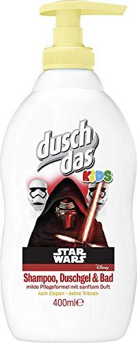 Duschdas Kids Shampoo, Duschgel und Bad Disney Star Wars Pumpspender, 400 ml