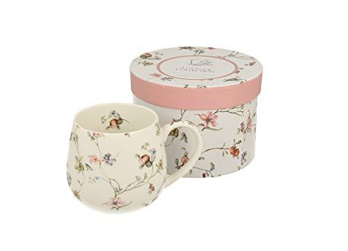 Duo Tee-Tasse Teebecher Porzellan Teetasse bauchig Geschenk-Tasse Cup 400 ml Geschenkbox (Safa OHNE Filter)