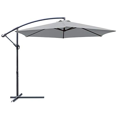 Greesum Offset Umbrella 10FT Cantilever Patio...