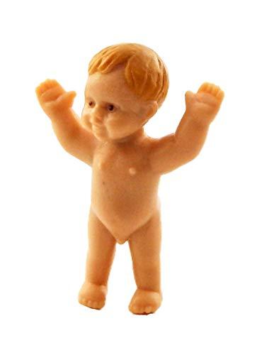 Bebé de pie en miniatura de goma para casa de muñecas 06