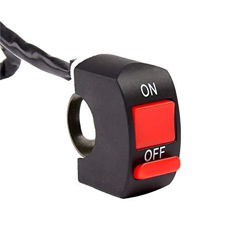 OutingStarcase Interruptor de la motocicleta universal del vehículo eléctrico grifo de mano Extintor de advertencia linterna de la luz de modificación de piezas de repuesto interruptor de la motocicle