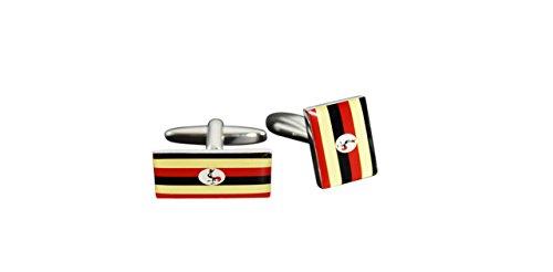 Flaggenfritze® Manschettenknöpfe Fahne / Flagge Uganda