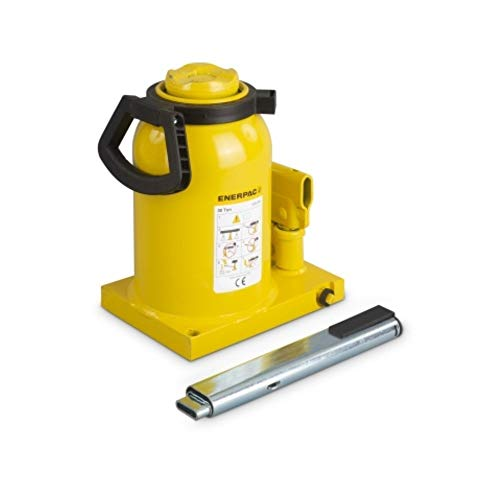 Enerpac GBJ-050A Hydraulic Industrial Bottle Jack   55 Ton Capacity   5.51 Inch Stroke   Overload Safety Relief Valve