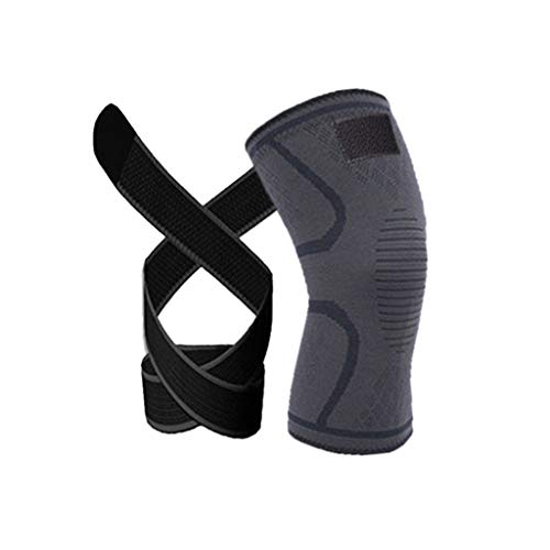 Mortimer Lamb Knieschutz mit Gurt, Kompressions-Kniebandagen mit Klettverschluss,am besten einstellbare Kniebandage,Komfortable und Atmungsaktive,knieschutz Sport für Damen, Herren