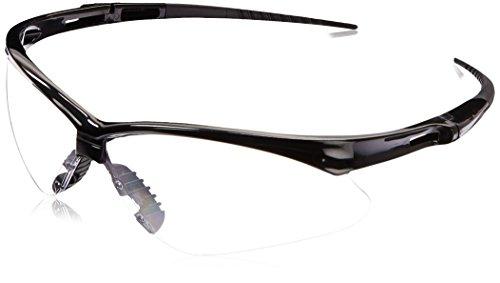 Kimberly Clark Safety 25676 V30 Nemesis Safety Eyewear, Clear Lens, Black Frame