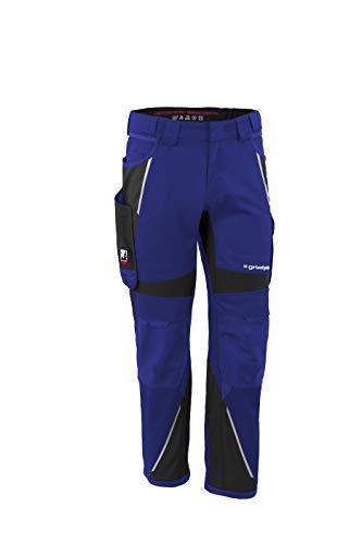 Grizzlyskin Bundhose Kornblau/Schwarz N58 - Unisex Workwear Arbeitshose für Männer und Damen mit vielen Taschen, Cordura-Schutzhose