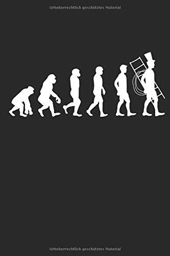 Evolution Kaminkehrer: Handwerker Geschenke für Männer & Frauen: Notizbuch DIN A5 I Liniert I 120 Seiten I Geschenkidee Schornsteinfeger Beruf ... Schornstein Kaminfeger Glücksbringer