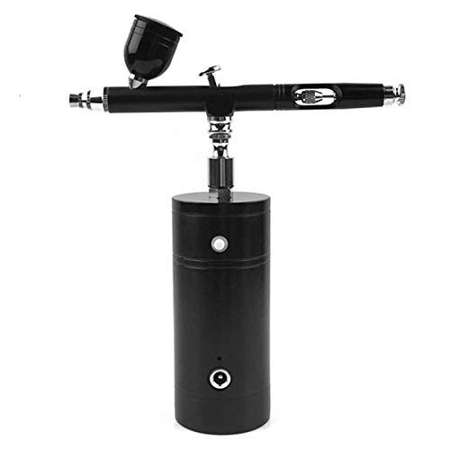 NCONCO Compresor de aire portátil Aerógrafo Set Dual Action Paint Airbrush Spray Gun con compresor Kit