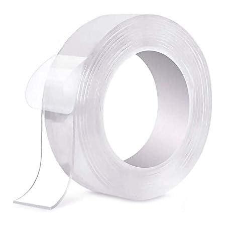 foto nastro biadesivo riutilizzabile trasparente Traceless Grip Tape per fissare moquette penne White-1 DOSMUNG Nastro biadesivo 3M lavabile multifunzione Nano Tape