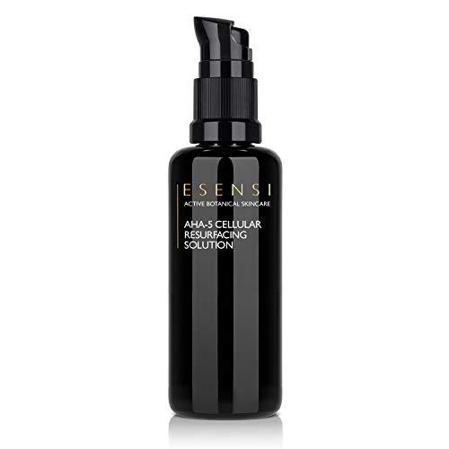 ESENSI AHA-5 Cellular Resurfacing Solution 50ml. Premium Botanical Alpha Hydroxy Fruit Acids esfoliano delicatamente la pelle del viso. Naturalmente Esfoliante, Raffinante e Illuminante