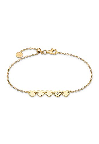 Guido Maria Kretschmer Damen-Armband 925er Silber 1 Diamant One Size Gelbgold 32011672