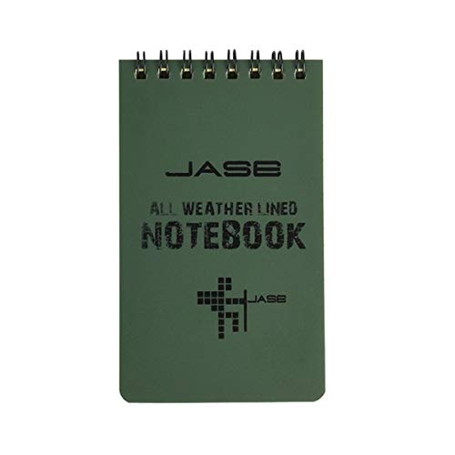 geneic Wasserdichter Notizblock, Fremdsprachen-Lernspulenbuch, Vokabelschatz, tragbares Taschen-Notizbuch, Tagebuch, Notizblock, Reise-Logbücher