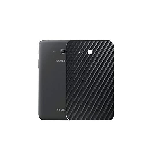 VacFun 2 Piezas Protector de pantalla Posterior, compatible con Samsung Galaxy Tab 3 Lite 7.0 SM-T110 T111 T113 T116 7', Película de Trasera de Fibra de carbono negra Skin Piel