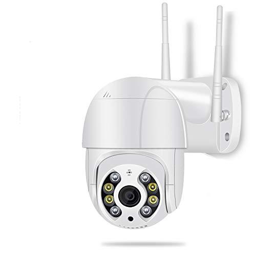 Camara WiFi Exterior Motorizada, Cameras de Seguridad WiFi 5MP HD, Camera WiFi Impermeable IP66 con Audio de Dos Vías,Visión Nocturna 50M en Color Detección de Movimiento Monitorización Inteligente