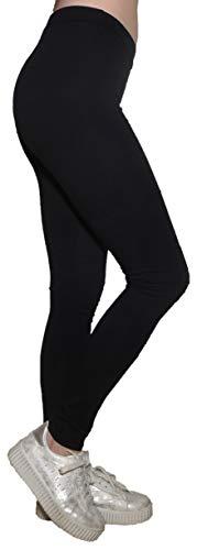 Pantalone Aderente Fusò Jeggings Palestra Ginnastica Danza Fitness Cotone Elasticizzato Ragazza Donna (L 44 IT Donna, Nero)