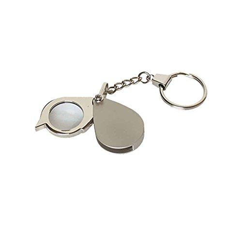 Fangfeen Tägliche Tasche tragbare Mini Lupe 8X Folding Schlüsselanhänger Lupe mit Schlüsselanhängern