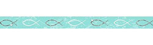 Ursus 59080005 - Masking Tape Jesus, 15 mm x 10 m, Fische, aqua