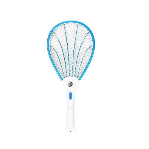 Kauriea Raqueta Mosquito Eléctrico Matamoscas Swatter Mata Mosquitos Plagas Insectos Asesino Repelente Insectos Raqueta Matamoscas Anti Mosquitos USB Recargable Iluminación LED