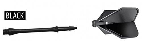 Klicksystem Harrows Dart-Flights und Dartpfeile Stück schwarz schwarz Midi