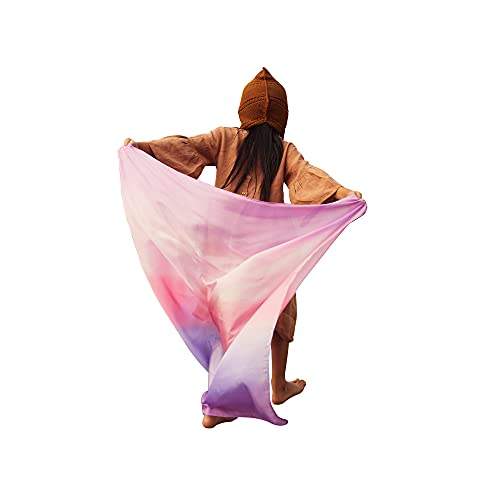 Sarah's Silks Enchanted Playsilk, 100% Silk Scarves for Kids and Toddlers, Sensory Toys   Bright Square Scarves, Montessori Waldorf Toys for Imaginative and Pretend Play - Blossom