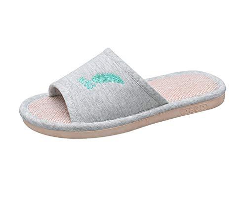ZiXing Hausschuhe Pantoffeln Damen Plüsch Memory Foam Waschbare Frottee Slipper Rutsche Indoor Pantoffeln Slides Grün EU 39
