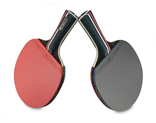 allforyou Raquetas de Tenis de Mesa Set Double Face Pimply-in Goma Raqueta de Ping Pong atacada rápida con 3 Bolas y Bolsa de Transporte
