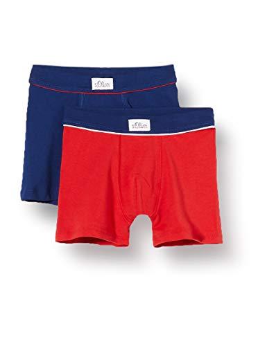 s.Oliver Jungen Shorts im Doppelpack Boxershorts, Blau (Royal Blue 5809), (Herstellergröße: 140) (2er Pack)